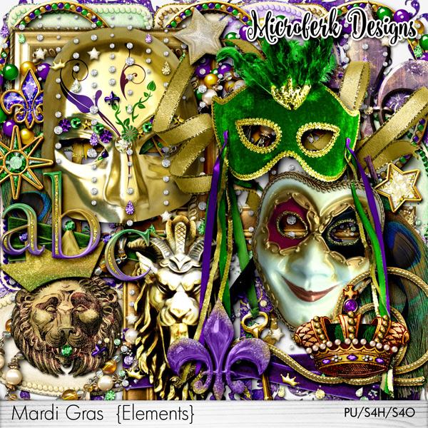 Mardi Gras Elements