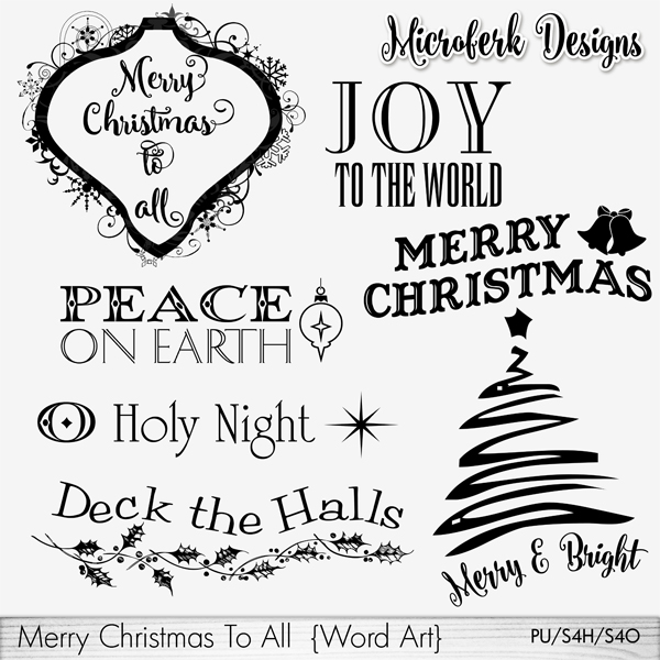 Merry Christmas To All Word Art