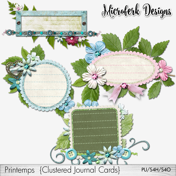 Printemps Clustered Journal Cards
