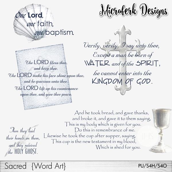 Sacred Word Art