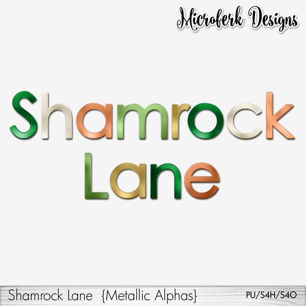 Shamrock Lane Metallic Alphas