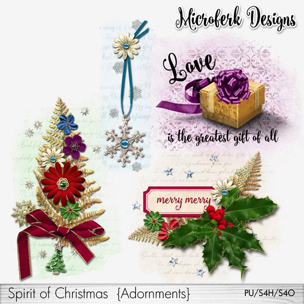 Spirit of Christmas Adornments