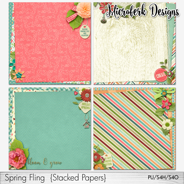 Spring Fling Stacked Papers