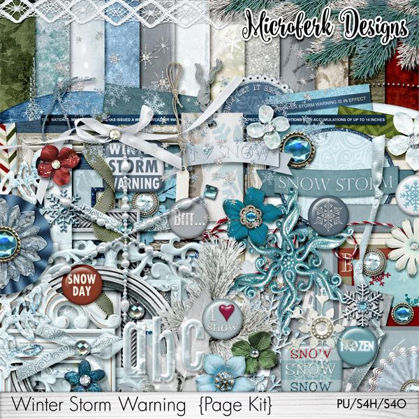 Winter Storm Warning Page Kit