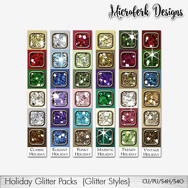 Holiday Glitter Packs CU