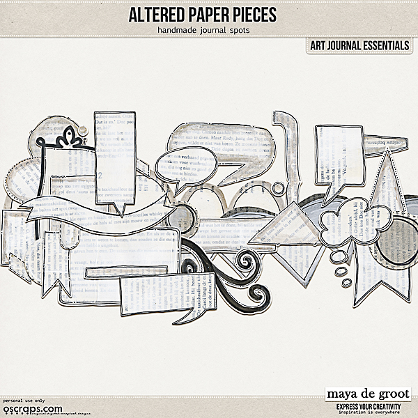 Altered Paper Pieces