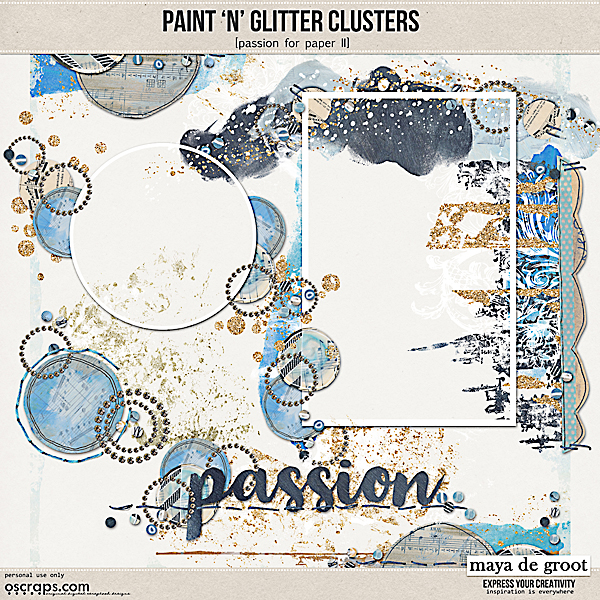 Paint 'n' Glitter Clusters [Passion for Paper II]