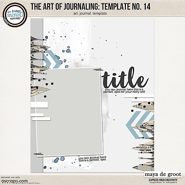 The Art of Journaling: Template no. 14