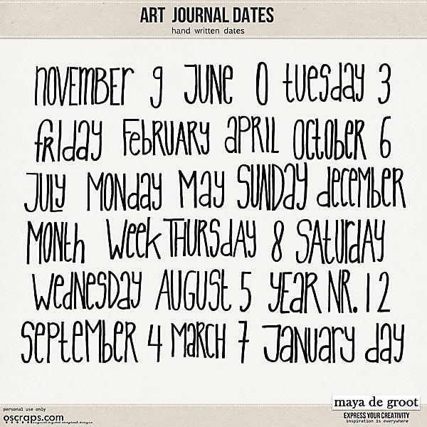 Art Journal Dates