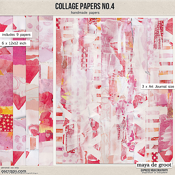 Collage Papers Set 4