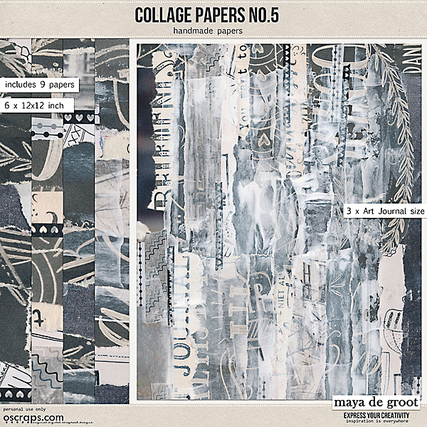 Collage Papers Set 5