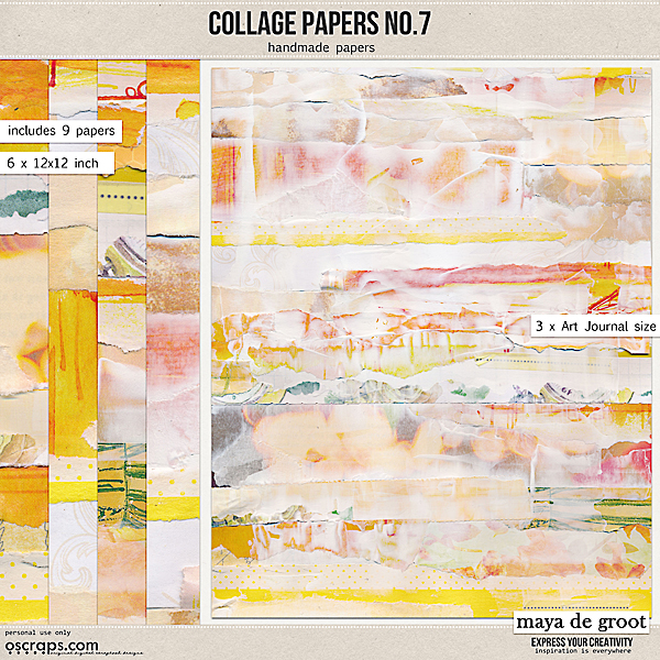 Collage Papers Set 7