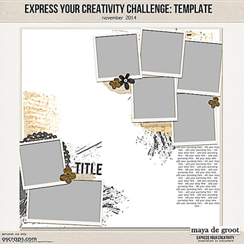 Express Your Creativity Challenge: Template
