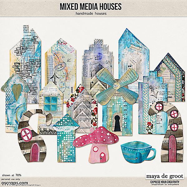 Mixed Media Houses