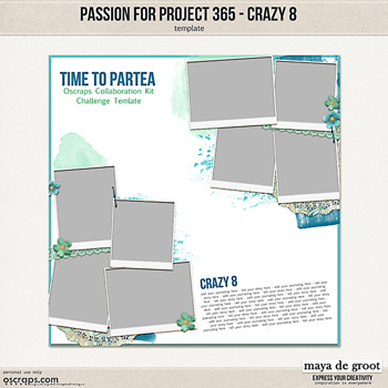 Passion for Project 365  - Crazy 8