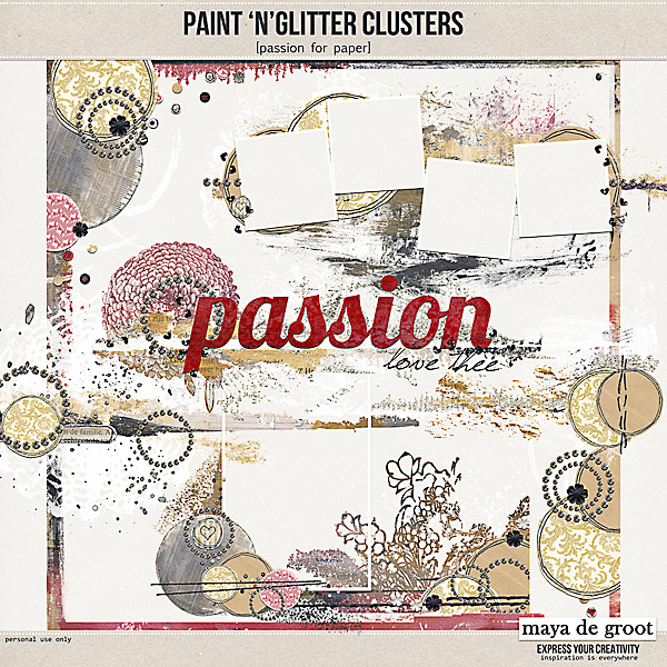 Paint 'n' Glitter Clusters [passion]