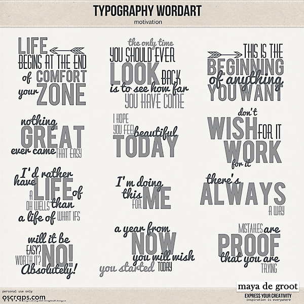 Typography Wordart Motivation