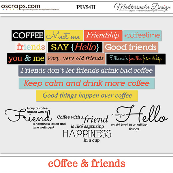 Coffee and friends (Words)