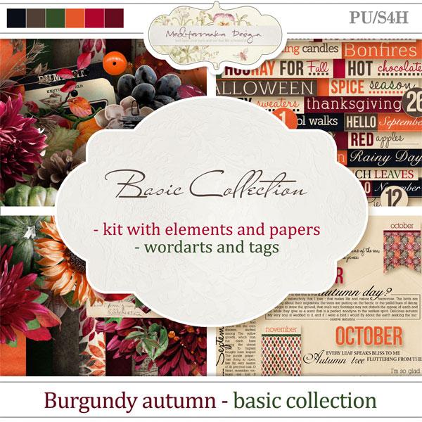Burgundy autumn (Basic collection 2 in 1)