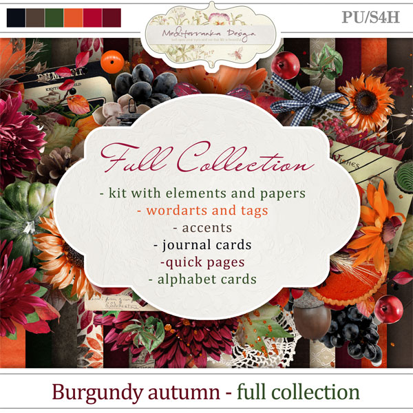 Burgundy autumn (Full collection 6 in 1)