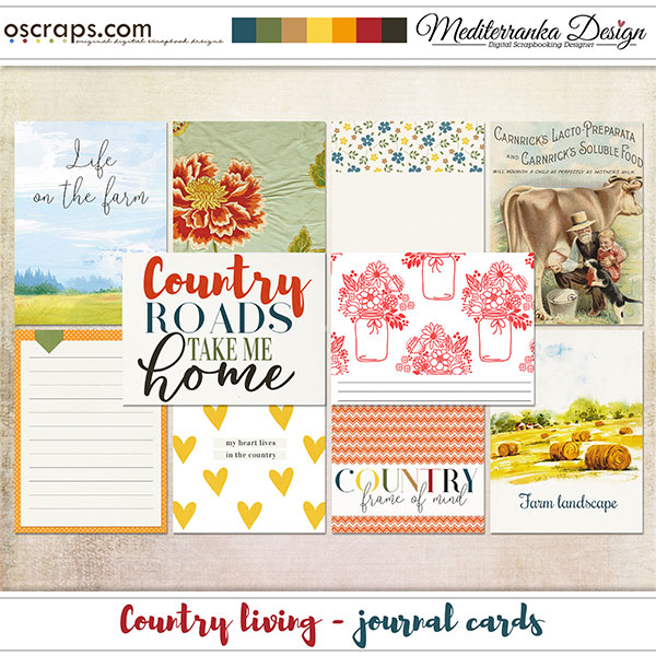 Country living (Journal cards)