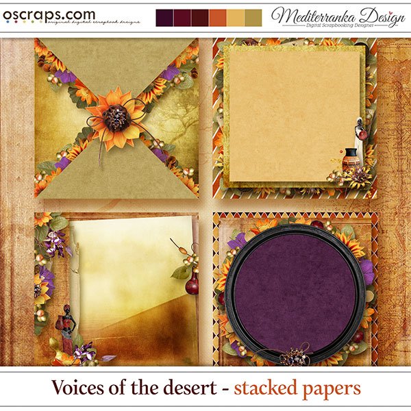 Voices of the desert (Stacked papers)