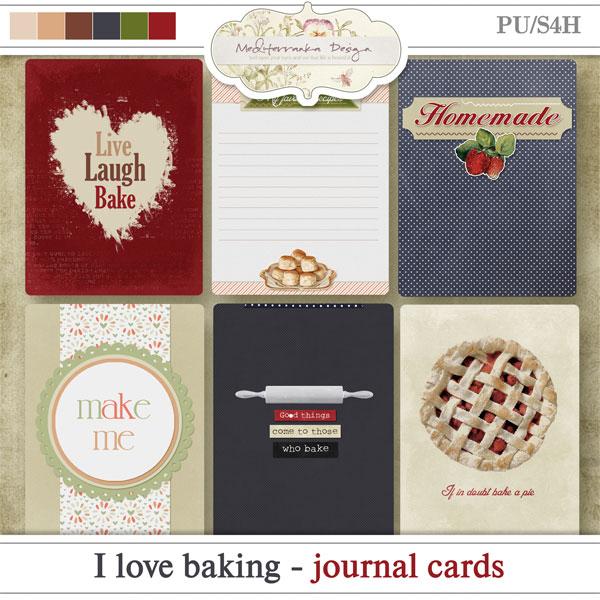 I love baking (Journal cards)
