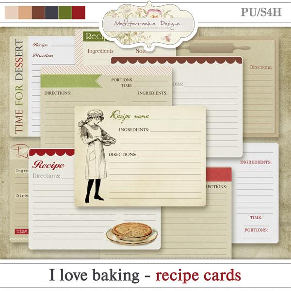 I love baking (Recipe cards)