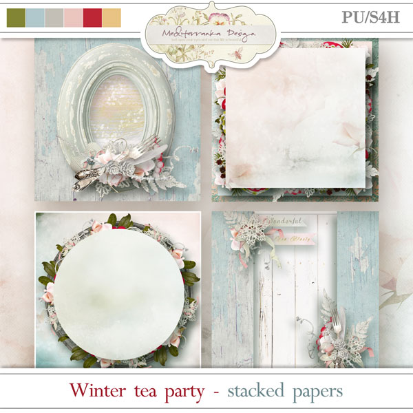 Winter tea party (Stacked papers)