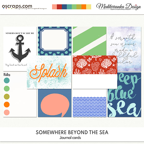 Somewhere beyond the sea (Journal cards)
