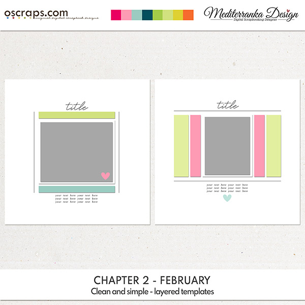 Chapter 2 - February (Clean and simple templates)