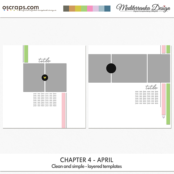 Chapter 4 - April (Clean and simple - layered templates)