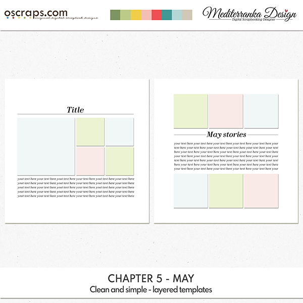 Chapter 5 - May (Clean and simple - layered templates)