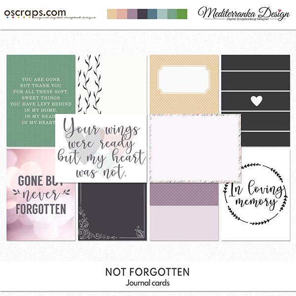 Not forgotten (Journal cards)
