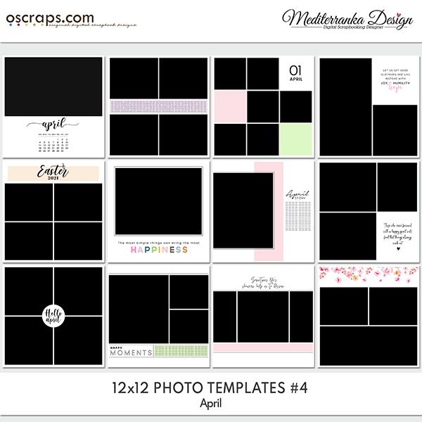 April (Photo templates 12x12)