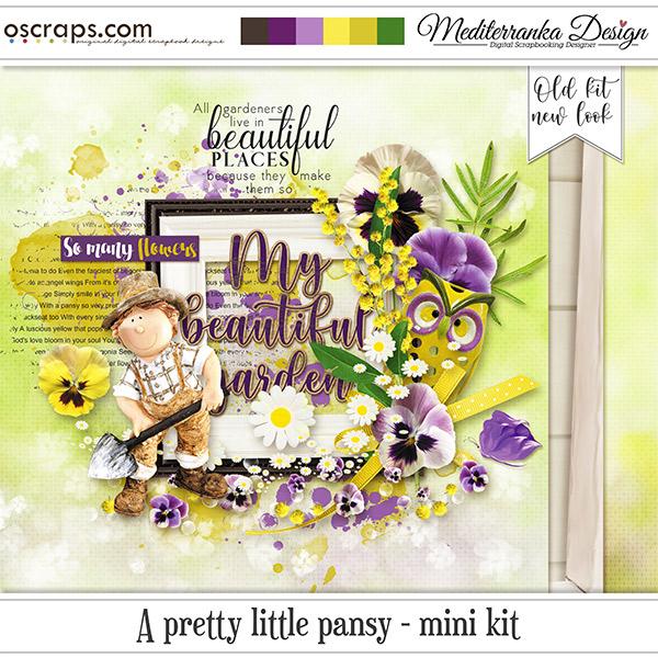 A pretty little pansy (Mini kit)