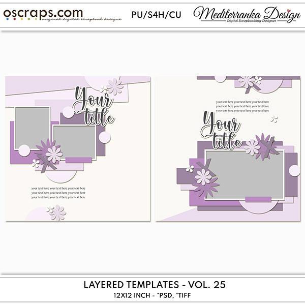 Layered templates - Vol. 25