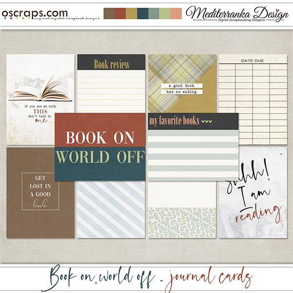 Book on, world off (Journal cards)