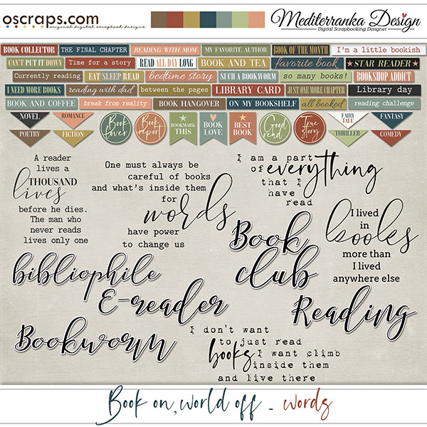 Book on, world off (Words)