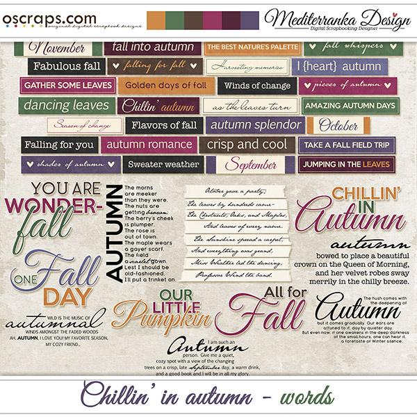 Chillin' in autumn (Words)