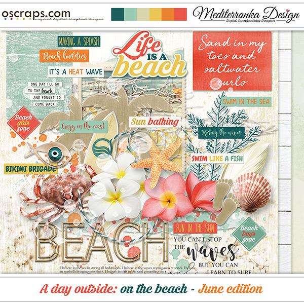 A day outside: on the beach - June edition (Mini kit)