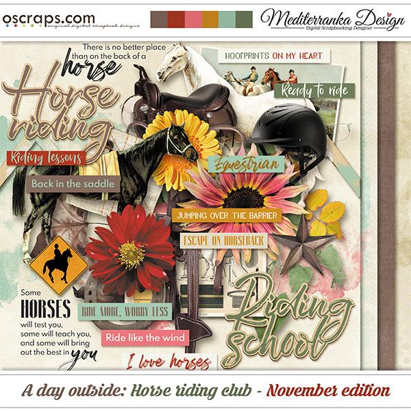 A day outside: Horse riding club - November edition (Mini kit)