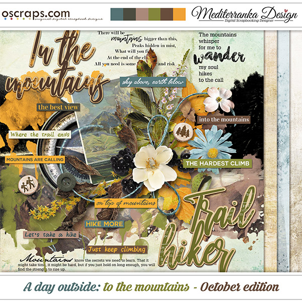 A day outside: to the mountains - October edition (Mini kit)