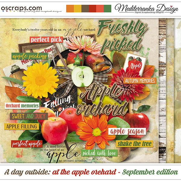 A day outside: at the apple orchard - September edition (Mini kit)