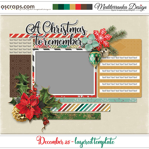 December 25 (Layered template)