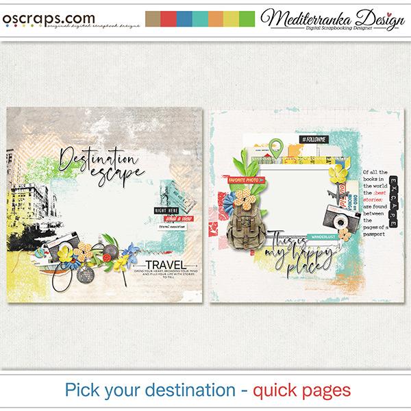 Pick your destination (Quick pages)
