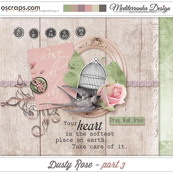 Dusty rose - part 3 (Mini kit)