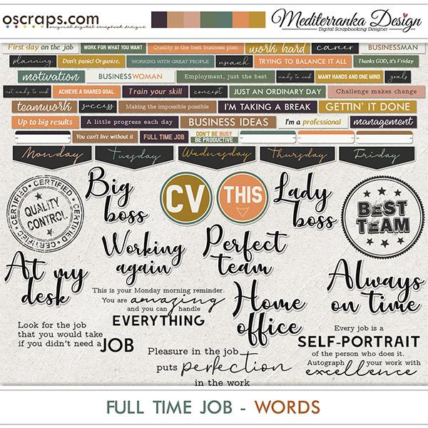 Full time job (Words)