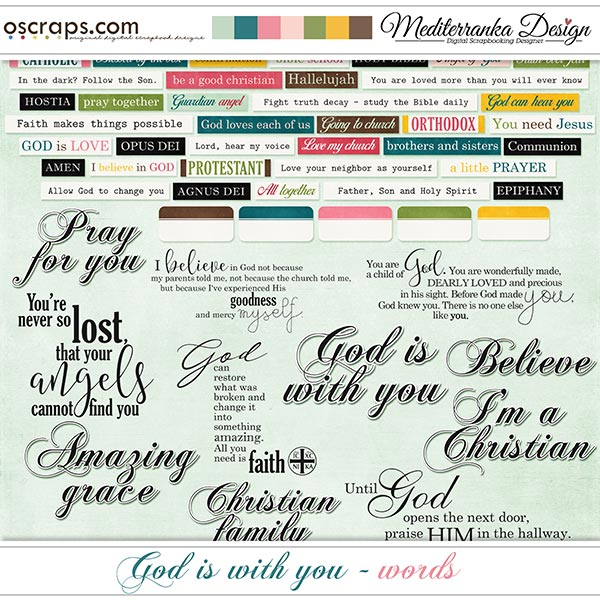 God is with you (Words)