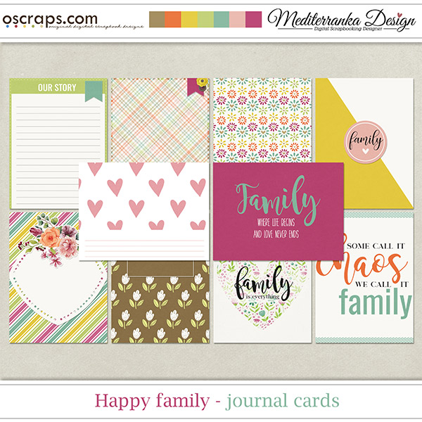 Happy Family (Journal cards)